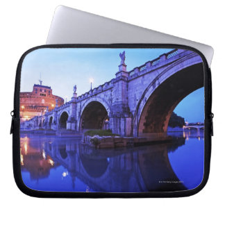 Ponte Sant' Angelo and Castel Sant' Angelo over Computer Sleeve