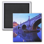 Ponte Sant' Angelo and Castel Sant' Angelo over 2 Inch Square Magnet