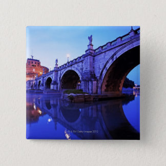 Ponte Sant' Angelo and Castel Sant' Angelo over Pinback Button