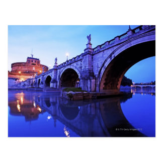Ponte Sant' Angelo and Castel Sant' Angelo over Postcard