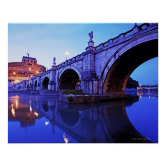 Ponte Sant' Angelo and Castel Sant' Angelo over Poster