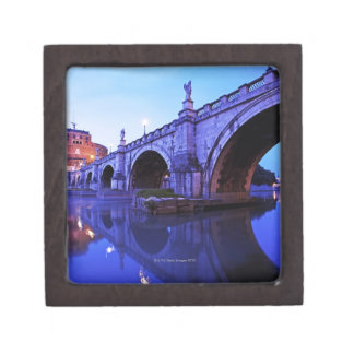 Ponte Sant' Angelo and Castel Sant' Angelo over Premium Trinket Boxes