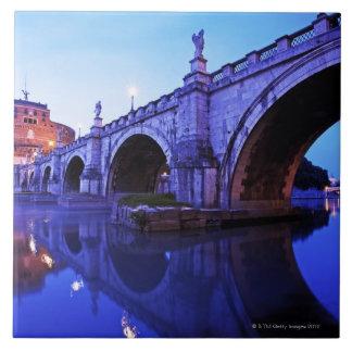 Ponte Sant' Angelo and Castel Sant' Angelo over Ceramic Tiles