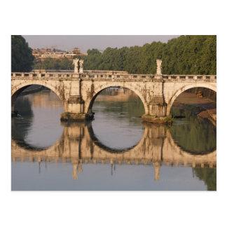 Ponte Sant'Angelo, río de Tíber, Roma, Italia Postales