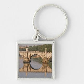 Ponte Sant'Angelo, Tiber River, Rome, Italy Keychain