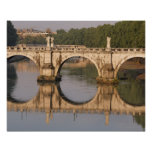 Ponte Sant'Angelo, Tiber River, Rome, Italy Poster