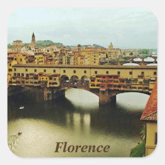 Ponte Vecchio 2 Square Sticker