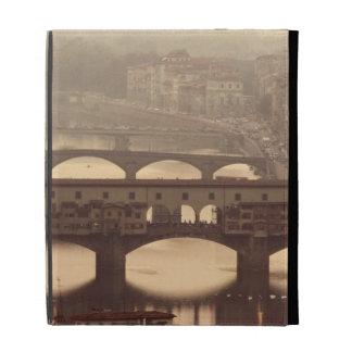 Ponte Vecchio and Arno iPad Folio Covers