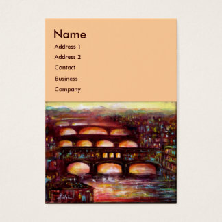 Ponte Vecchio and Other Bridges of Florence,Pink Business Card