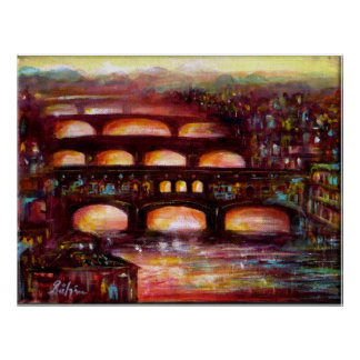 Ponte Vecchio and Other Bridges of Florence Poster