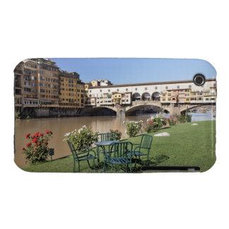 Ponte Vecchio and table along Arno Rive iPhone 3 Case