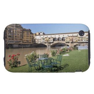 Ponte Vecchio and table along Arno Rive iPhone 3 Tough Cover