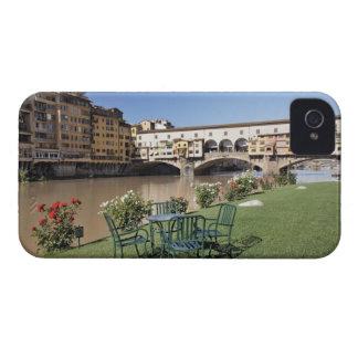 Ponte Vecchio and table along Arno Rive iPhone 4 Case-Mate Case
