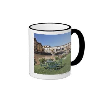Ponte Vecchio and table along Arno Rive Coffee Mugs