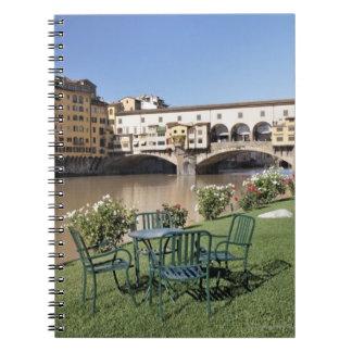 Ponte Vecchio and table along Arno Rive Note Book