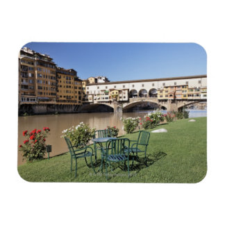 Ponte Vecchio and table along Arno Rive Rectangular Photo Magnet