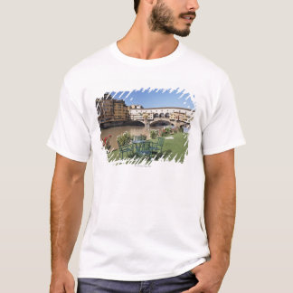 Ponte Vecchio and table along Arno Rive T-Shirt