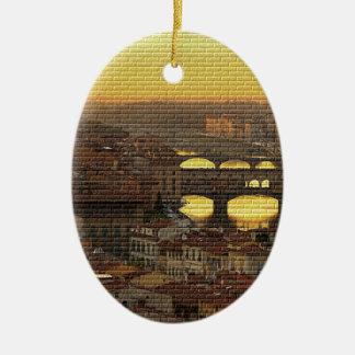 Ponte Vecchio  Bridge Ceramic Ornament