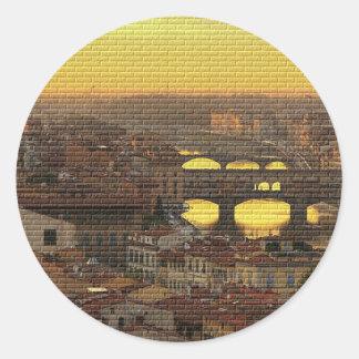 Ponte Vecchio  Bridge Classic Round Sticker