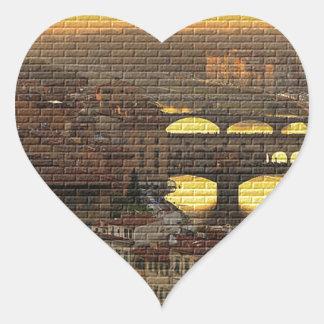 Ponte Vecchio  Bridge Heart Sticker