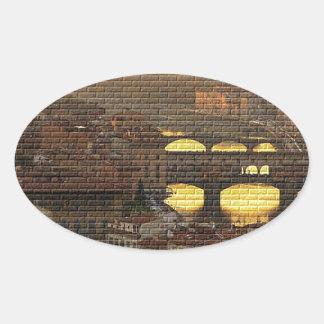 Ponte Vecchio  Bridge Oval Sticker