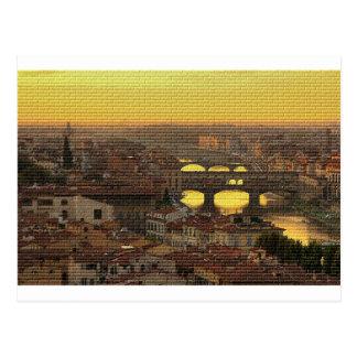 Ponte Vecchio  Bridge Postcard