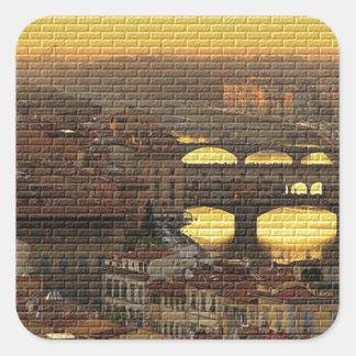 Ponte Vecchio  Bridge Square Sticker