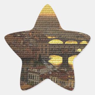 Ponte Vecchio  Bridge Star Sticker
