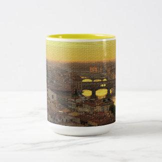Ponte Vecchio  Bridge Two-Tone Coffee Mug