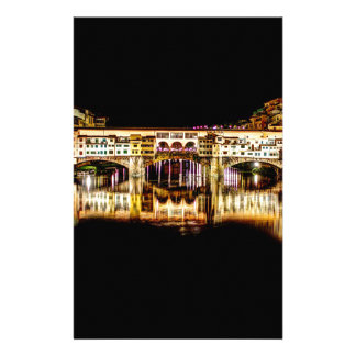Ponte Vecchio by night Stationery