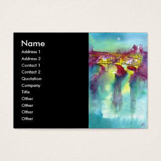 PONTE VECCHIO  -Florence, blue,pink,black Business Card