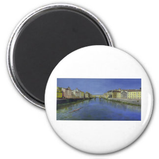 Ponte Vecchio, Florence, Italy 2 Inch Round Magnet