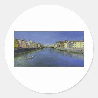 Ponte Vecchio, Florence, Italy Classic Round Sticker