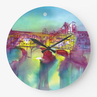 Ponte Vecchio - Florence Large Clock
