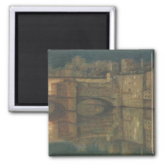 Ponte Vecchio, Florence (oil on canvas) 2 Inch Square Magnet
