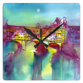 Ponte Vecchio - Florence Square Wall Clock
