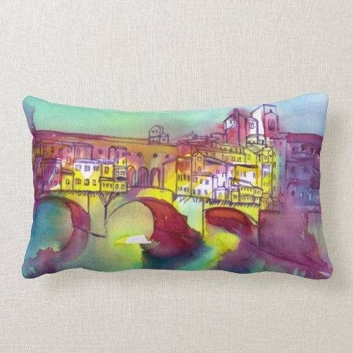 Ponte Vecchio  Florence Throw Pillow