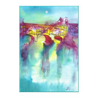 Ponte Vecchio - Florencia Lienzo Envuelto Para Galerías