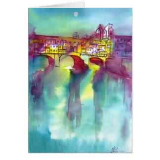 Ponte Vecchio - Florencia Tarjeta