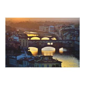 Ponte Vecchio Impresión En Lona