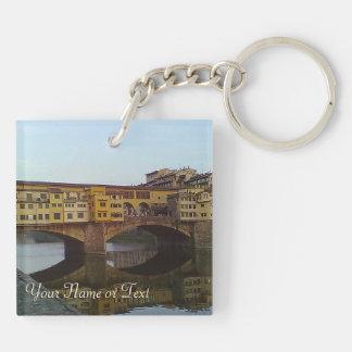 Ponte Vecchio Old Bridge Florence Italy Gift Keychain