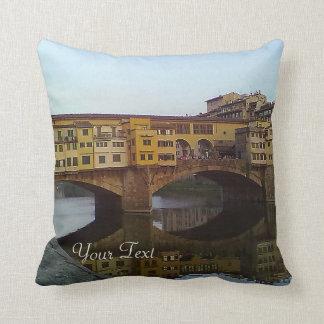 Ponte Vecchio Old Bridge Florence Italy Gift Throw Pillow