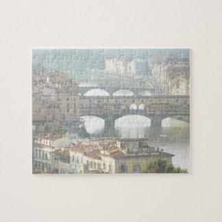 Ponte Vecchio Old Bridge Florence Italy Jigsaw Puzzle