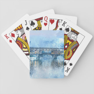 Ponte Vecchio on the river Arno in Florence, Italy Playing Cards