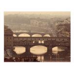 Ponte Vecchio y Arno Postal