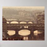 Ponte Vecchio y Arno Póster