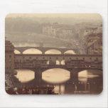 Ponte Vecchio y Arno Tapetes De Ratones