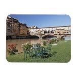 Ponte Vecchio y tabla a lo largo de Arno Rive Imán