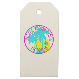 Ponte Vedra Beach Florida Wooden Gift Tags