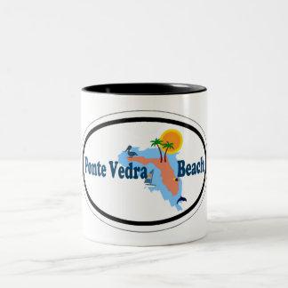 Ponte Vedra Beach. Two-Tone Coffee Mug